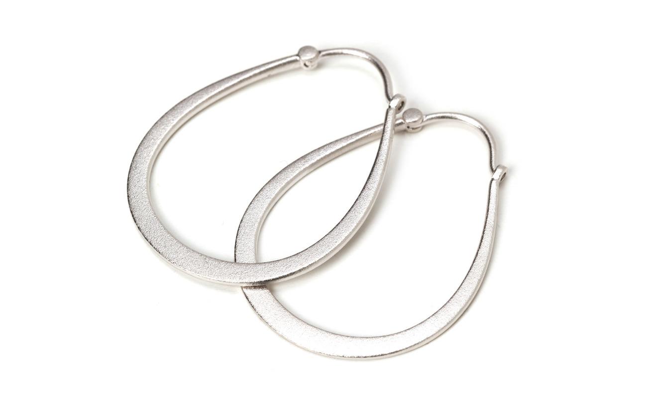 Julie Sandlau Classic pear hoop earring - Rhodium - SILVER