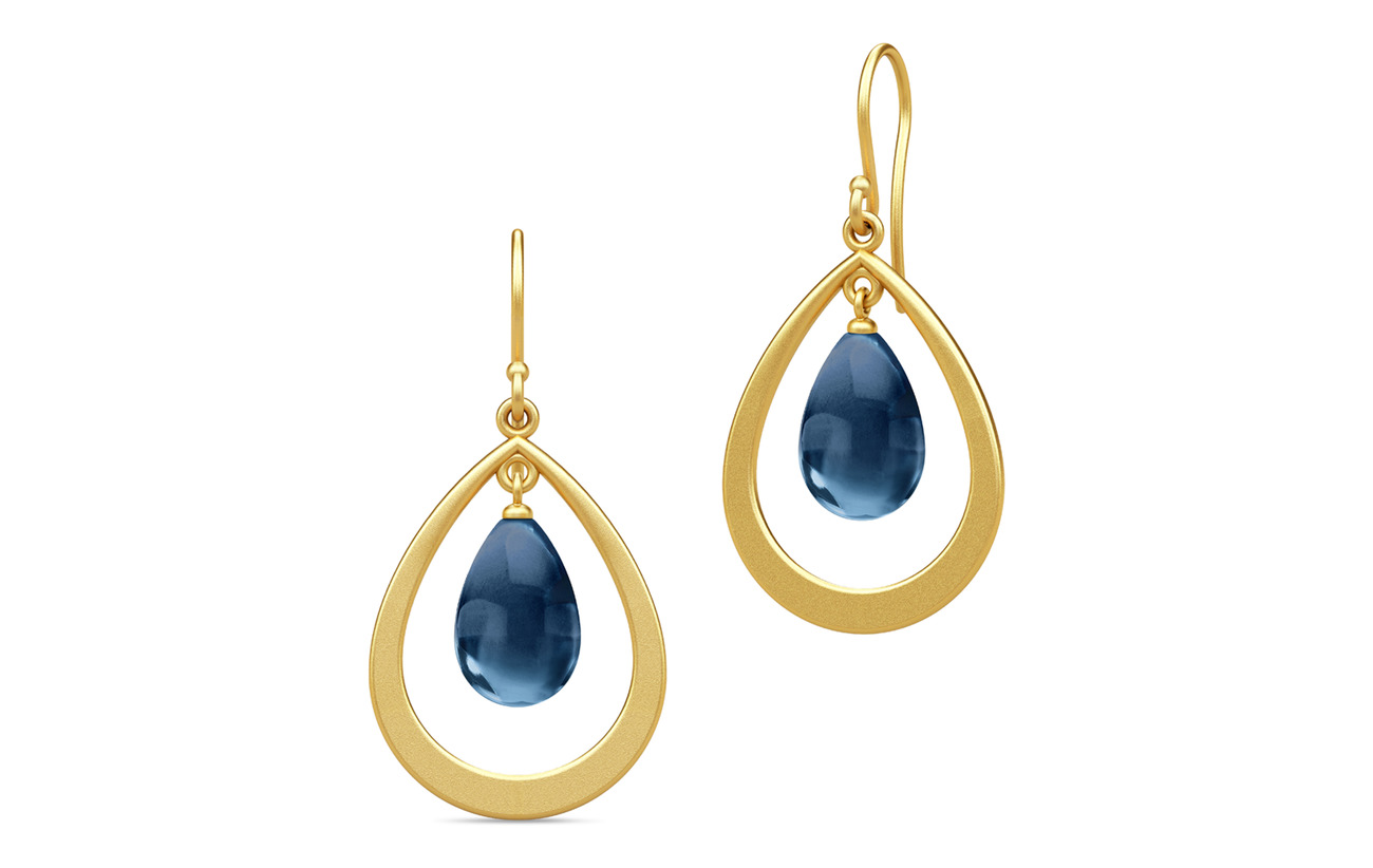 Julie Sandlau Prime Droplet Earrings guld grön Smycken