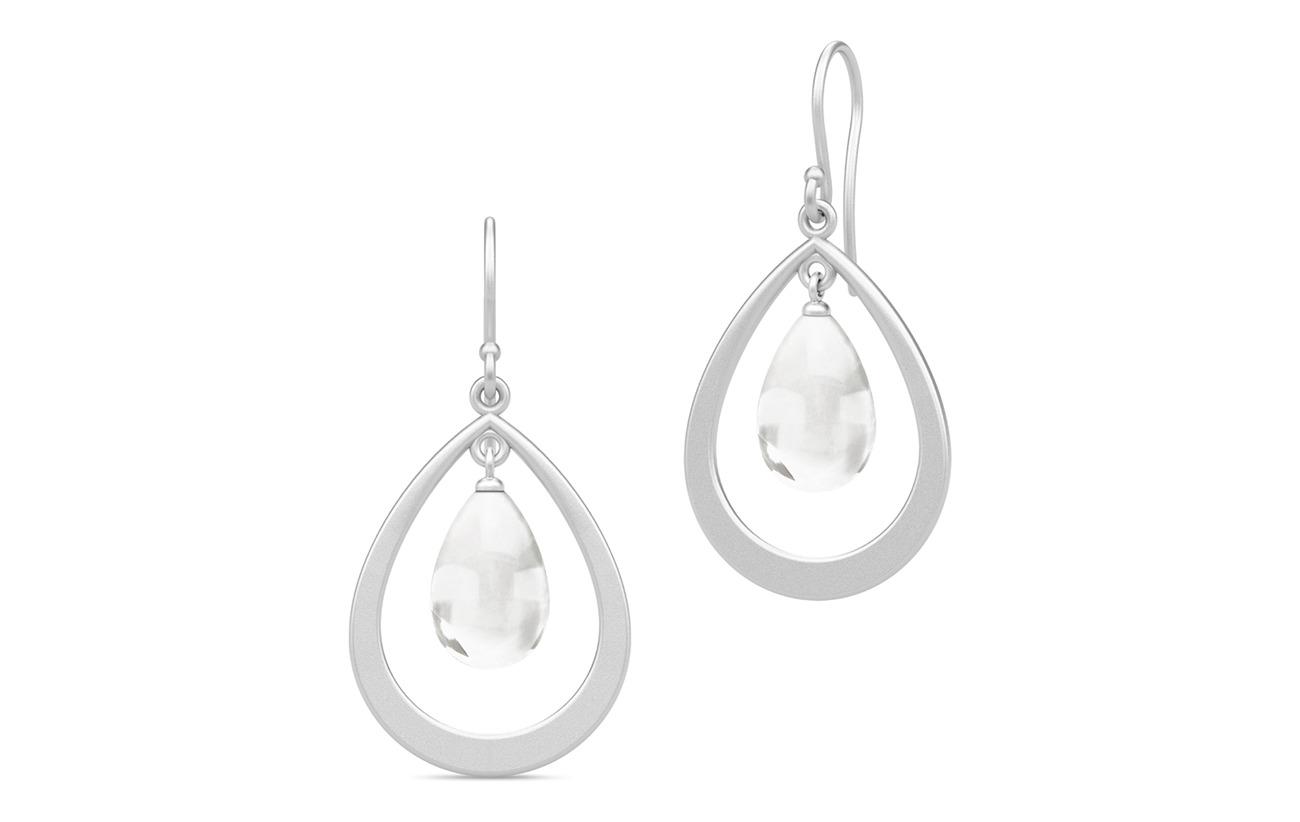Julie Sandlau Prime Droplet Earrings - Rhodium/Clear - WHITE