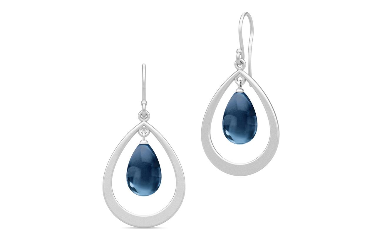 Julie Sandlau Prime Droplet Earrings - Rhodium/Sapphir - BLUE