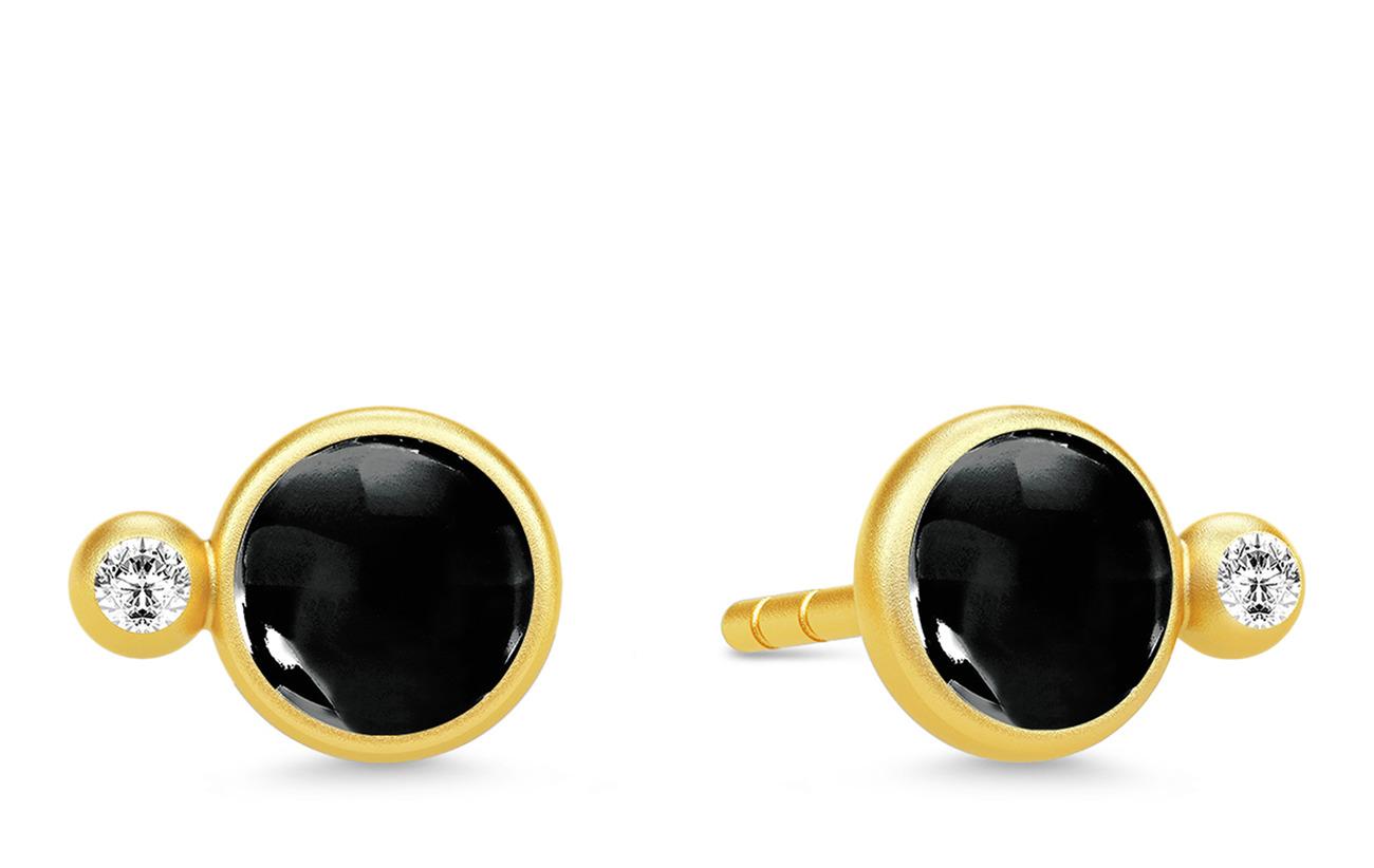 Julie Sandlau Prime Earstuds - Gold/Black - GOLD / BLACK