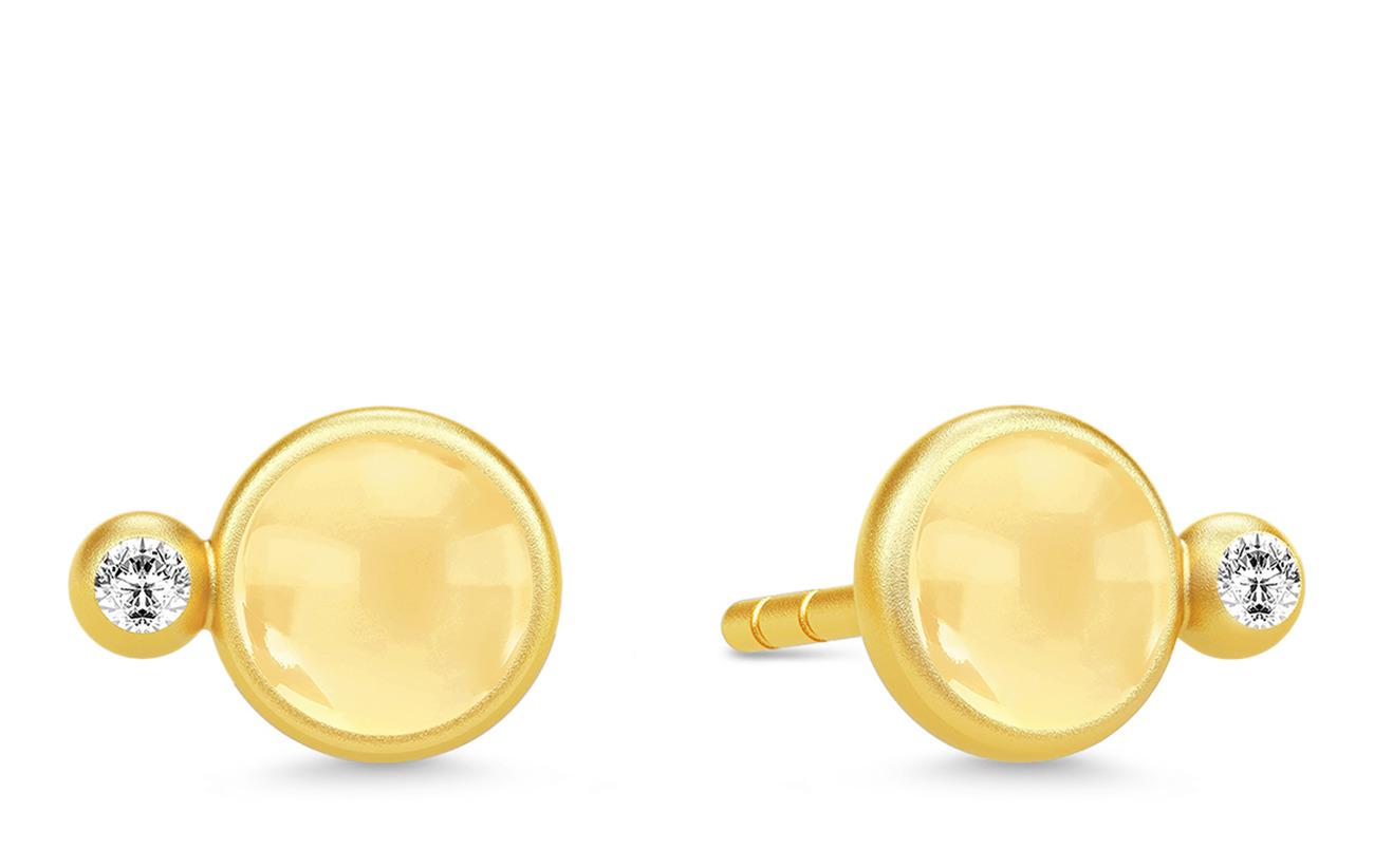 Julie Sandlau Prime Earstuds - Gold/Citrine - GOLD / CITRINE