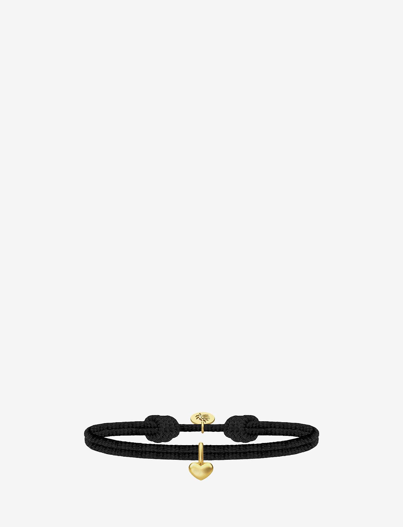 Julie Sandlau - Love Satin Bracelet - Gold/Bla - dainty - black - 0