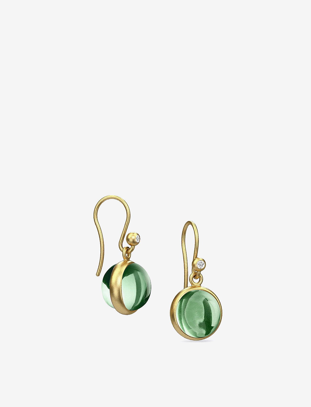 Julie Sandlau - Prime earring - Gold - auskari ar kulonu - green - 1