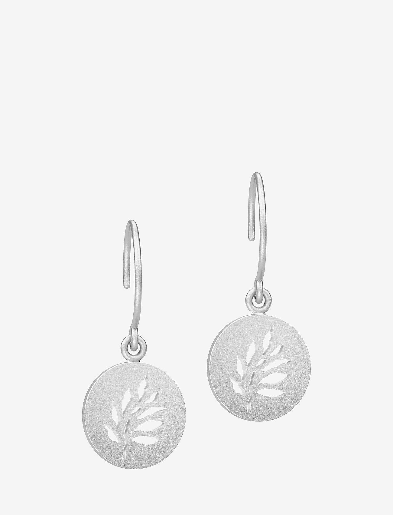 Julie Sandlau - Signature earring - Rhodium - auskari ar kulonu - silver - 0