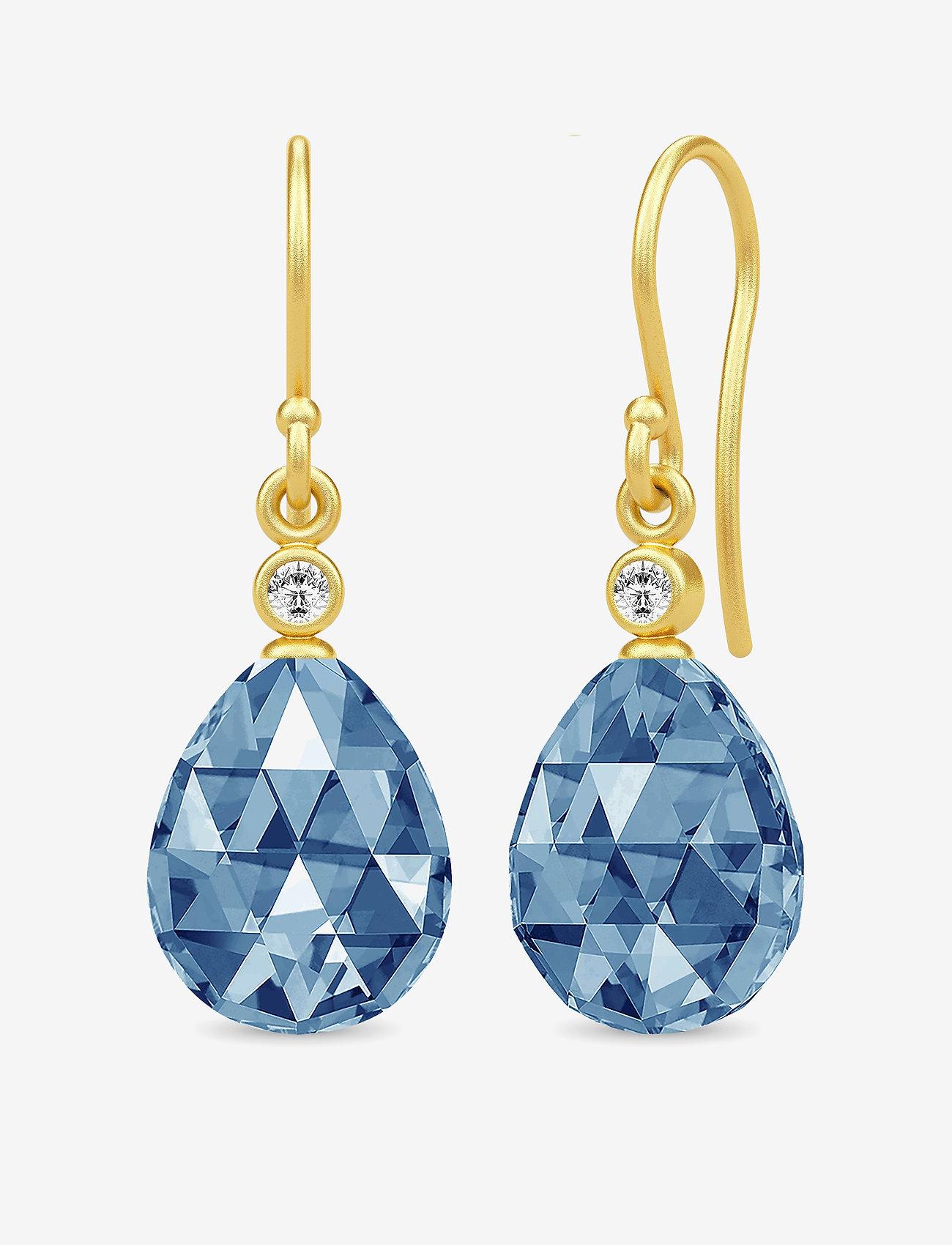 Julie Sandlau - Eve Earrings - hängande örhängen - gold - 0