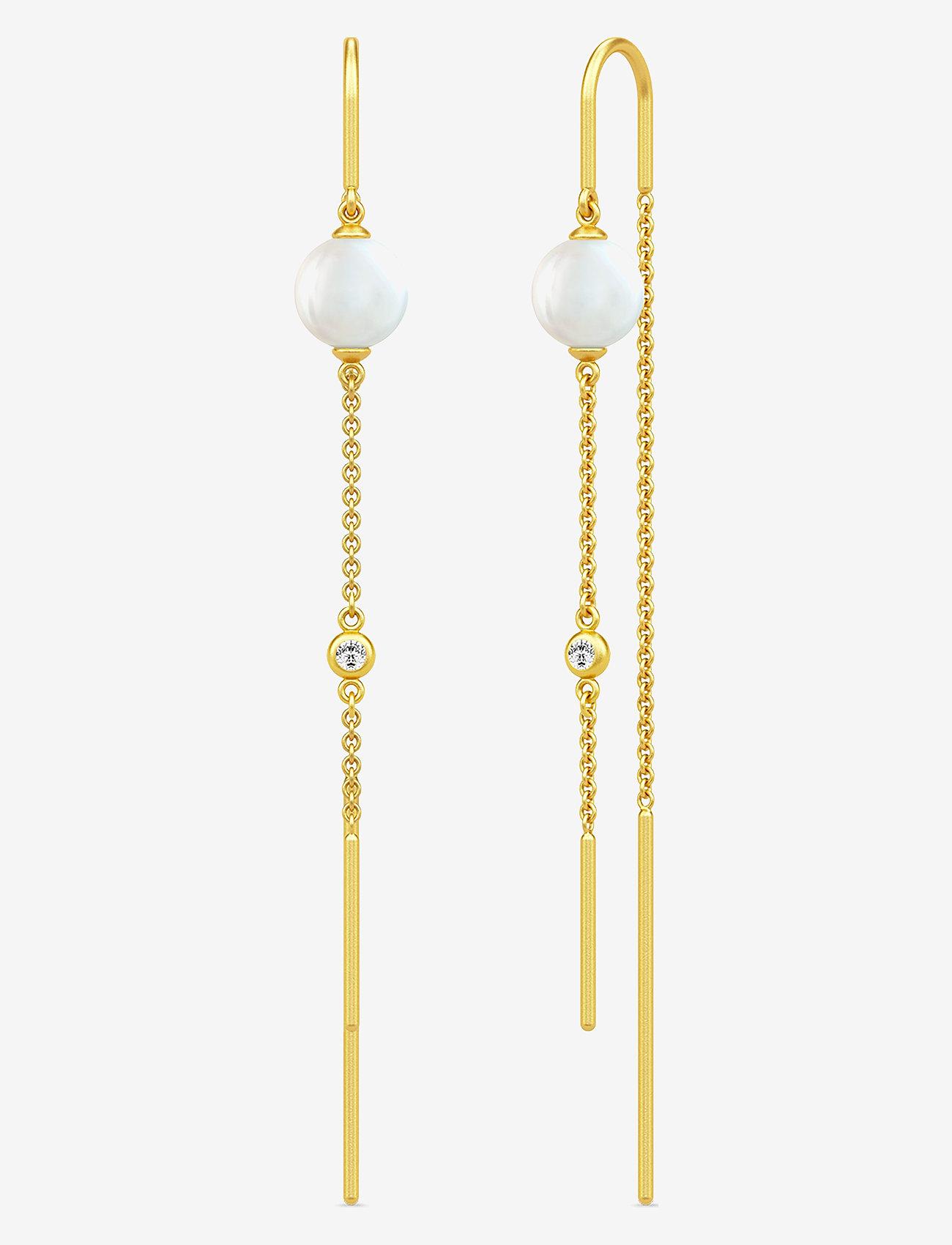 Julie Sandlau - Ariel Earring - hängande örhängen - gold - 1