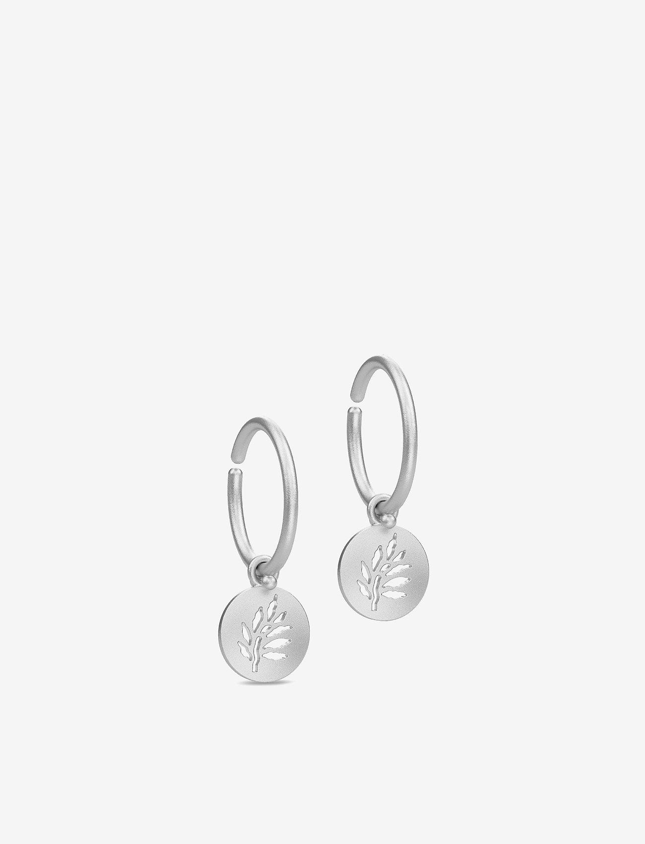 Julie Sandlau - Signature Mini Hoop - Rhodium - auskari ar kulonu - silver - 0