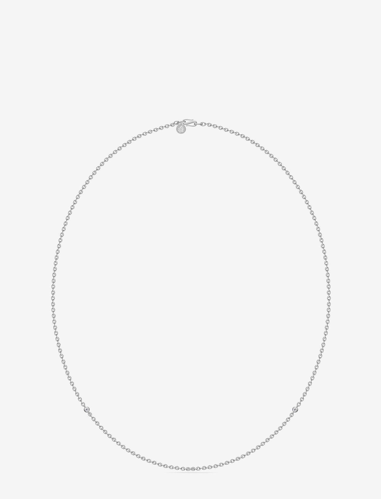 Julie Sandlau - Necklace Rhodium - Ķēdīšu kaklarotas - silver - 0