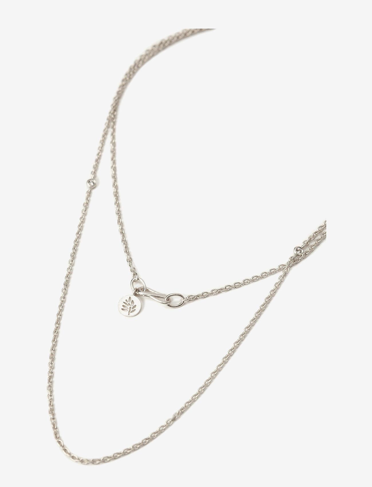 Julie Sandlau - Necklace Rhodium - Ķēdīšu kaklarotas - silver - 1