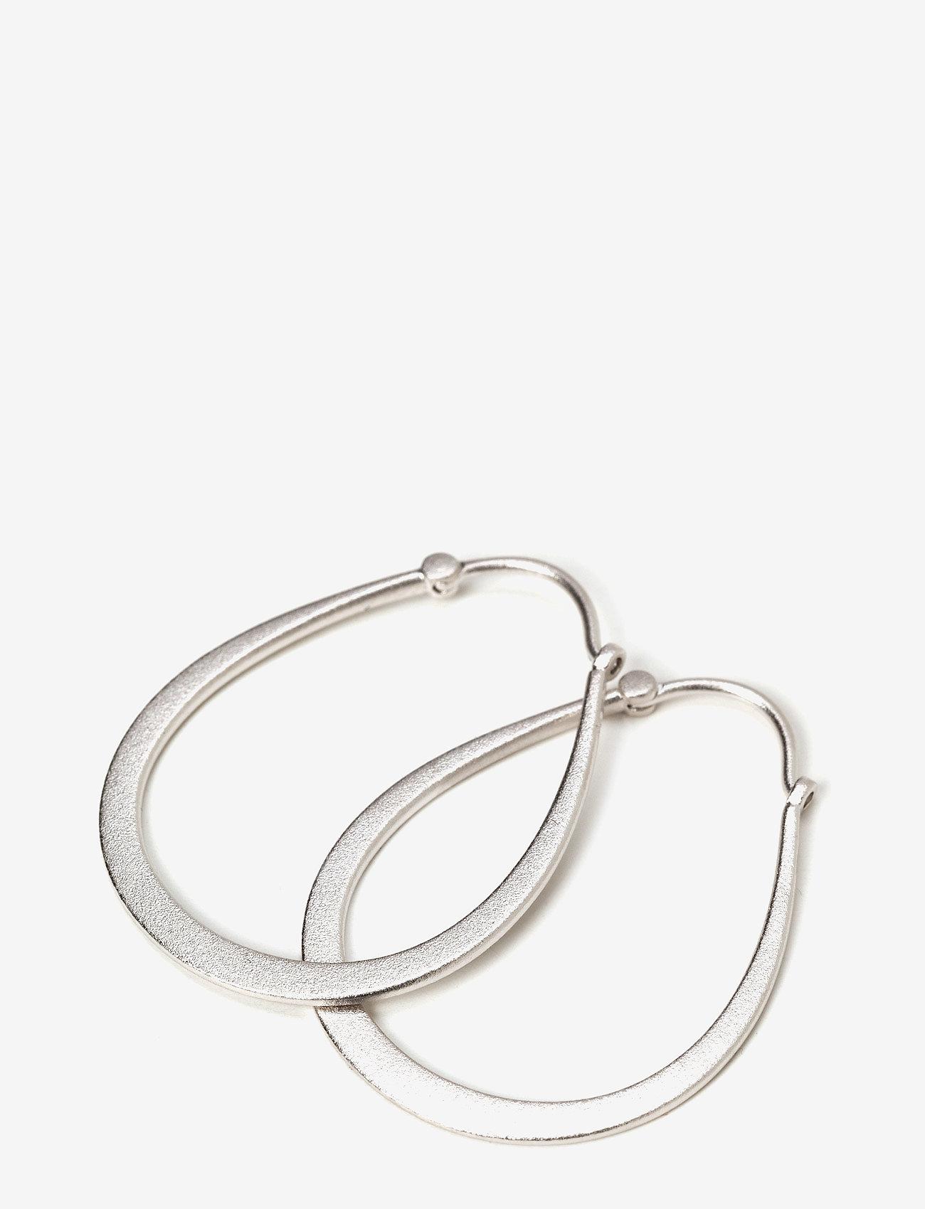 Julie Sandlau Classic Pear Hoop Earring - Rhodium Smycken Silver