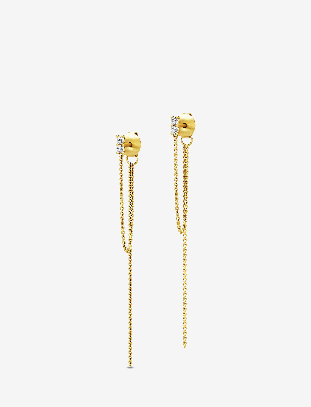 Julie Sandlau - Lucia Chain Earstuds - Gold - statement earrings - gold - 0