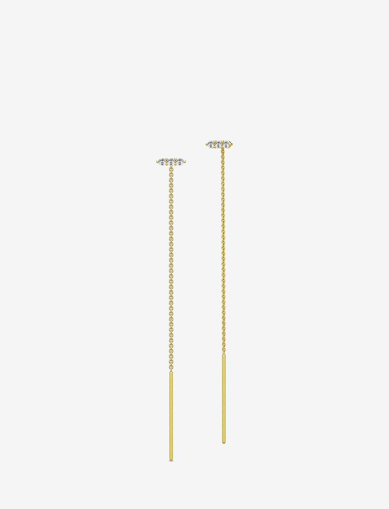 Julie Sandlau - Lucy Earrings - Gold - statement earrings - gold - 0