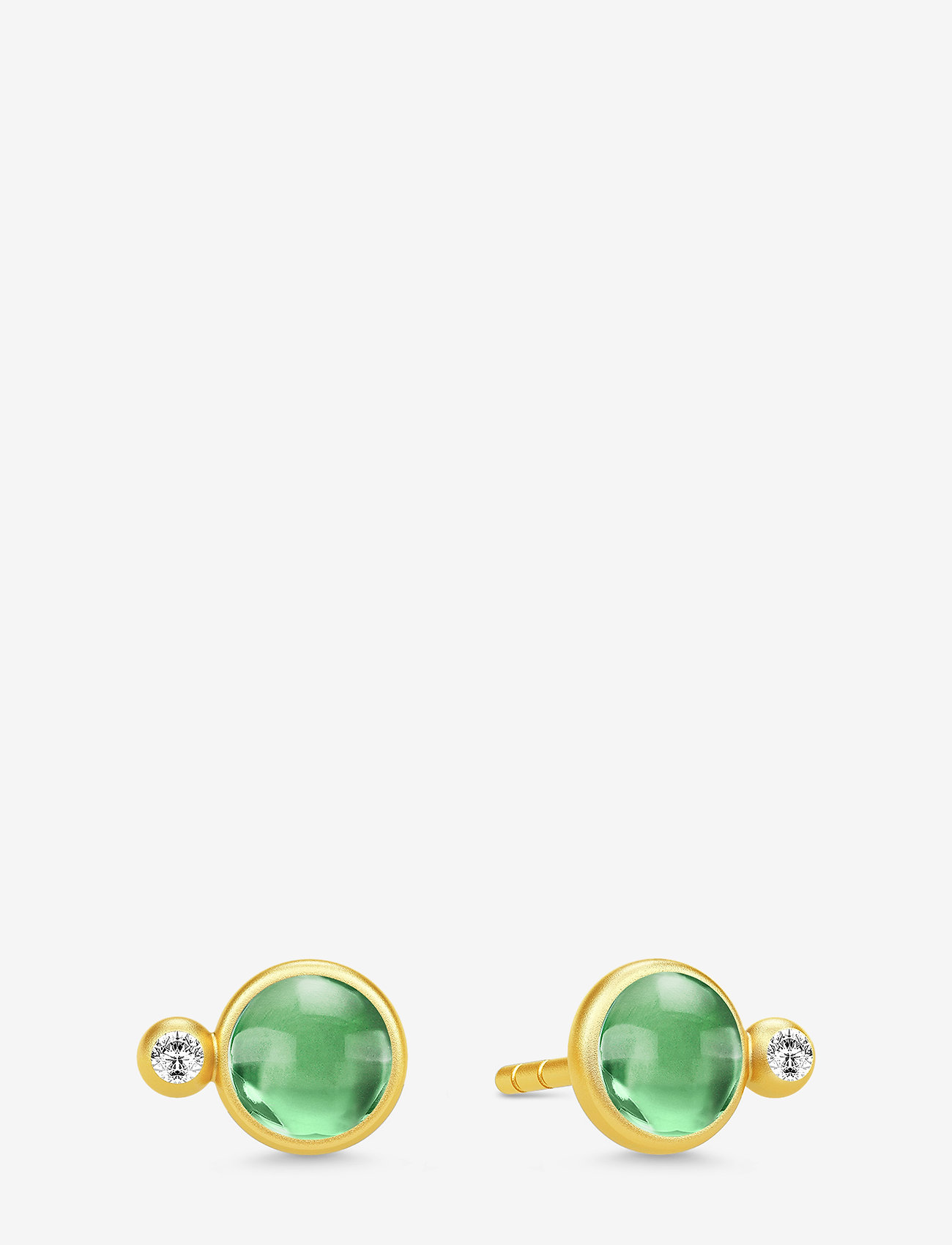 Julie Sandlau - Prime Earstuds - Gold/Green - studs - rhodium /clear - 0