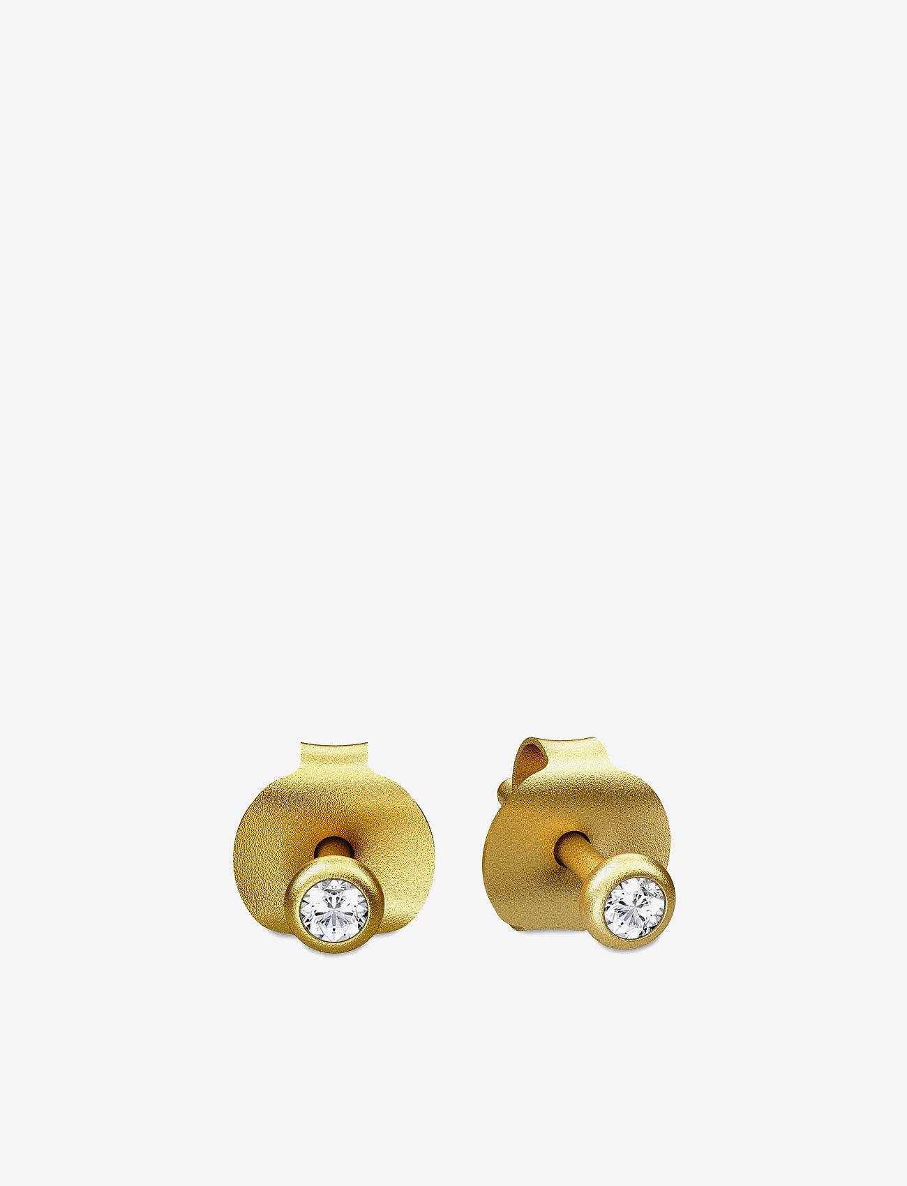 Julie Sandlau - Finesse earring - Gold - studs - gold - 0