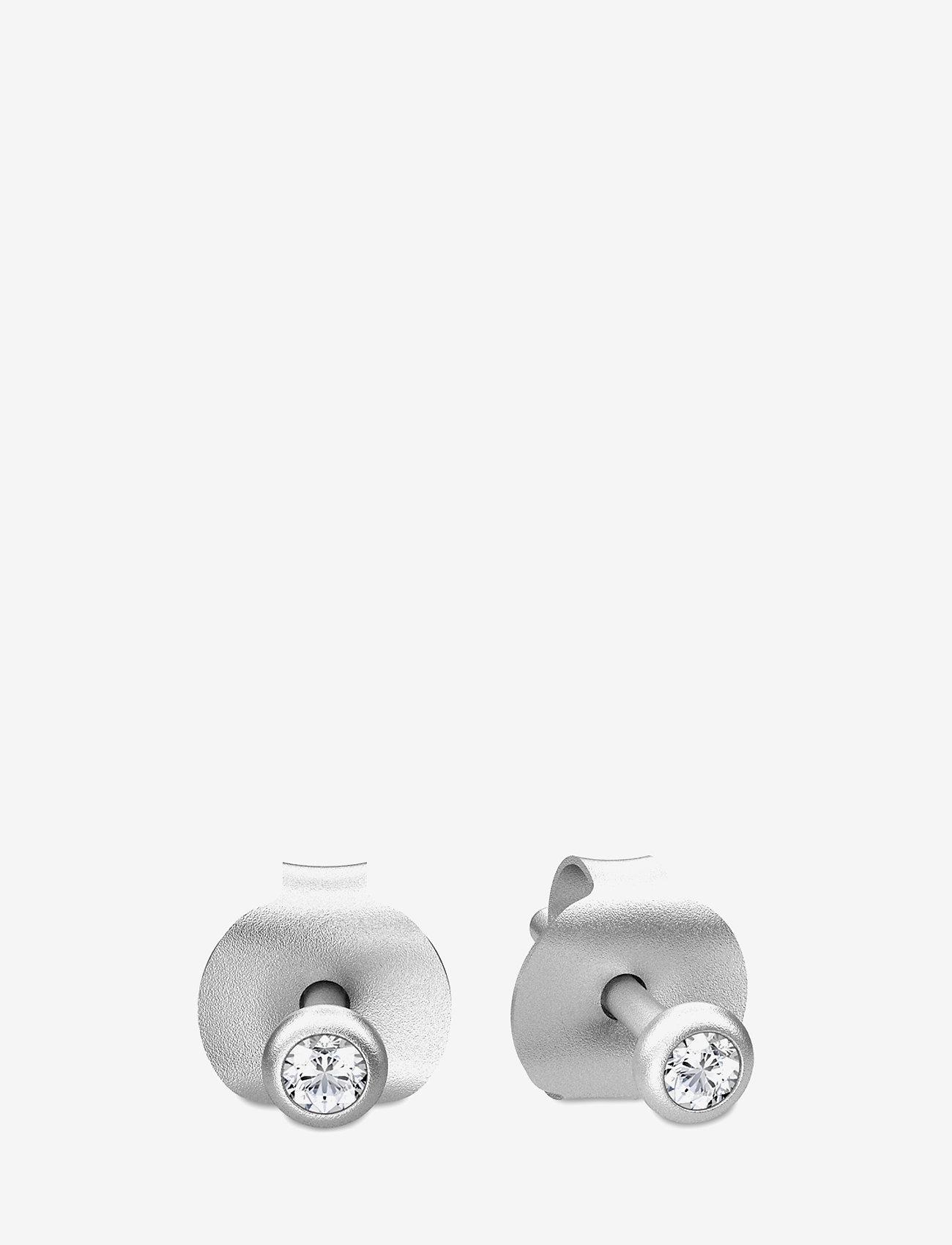 Julie Sandlau - Finesse earring - Rhodium - nagliņauskari - silver - 1
