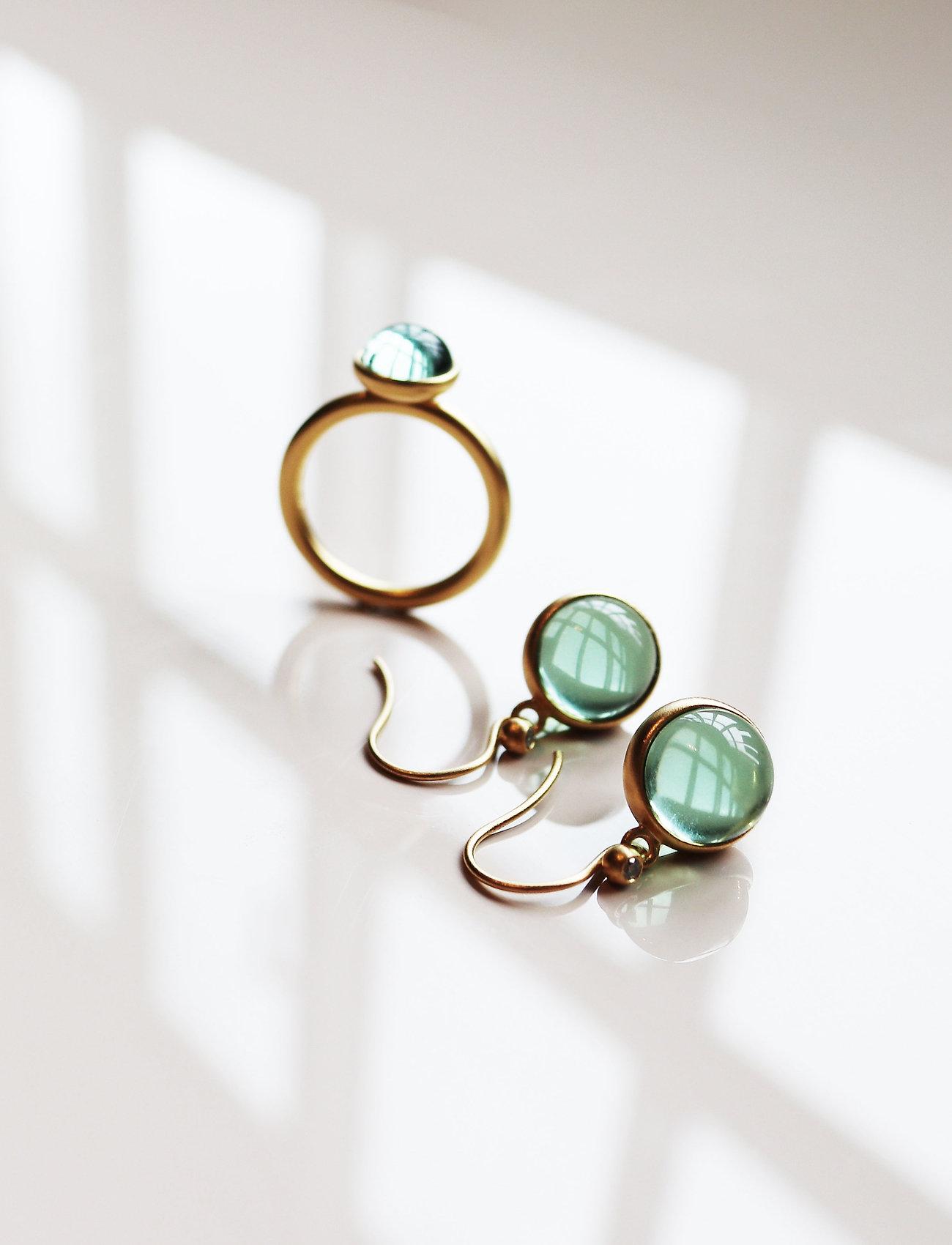 Julie Sandlau - Prime earring - Gold - auskari ar kulonu - green - 0