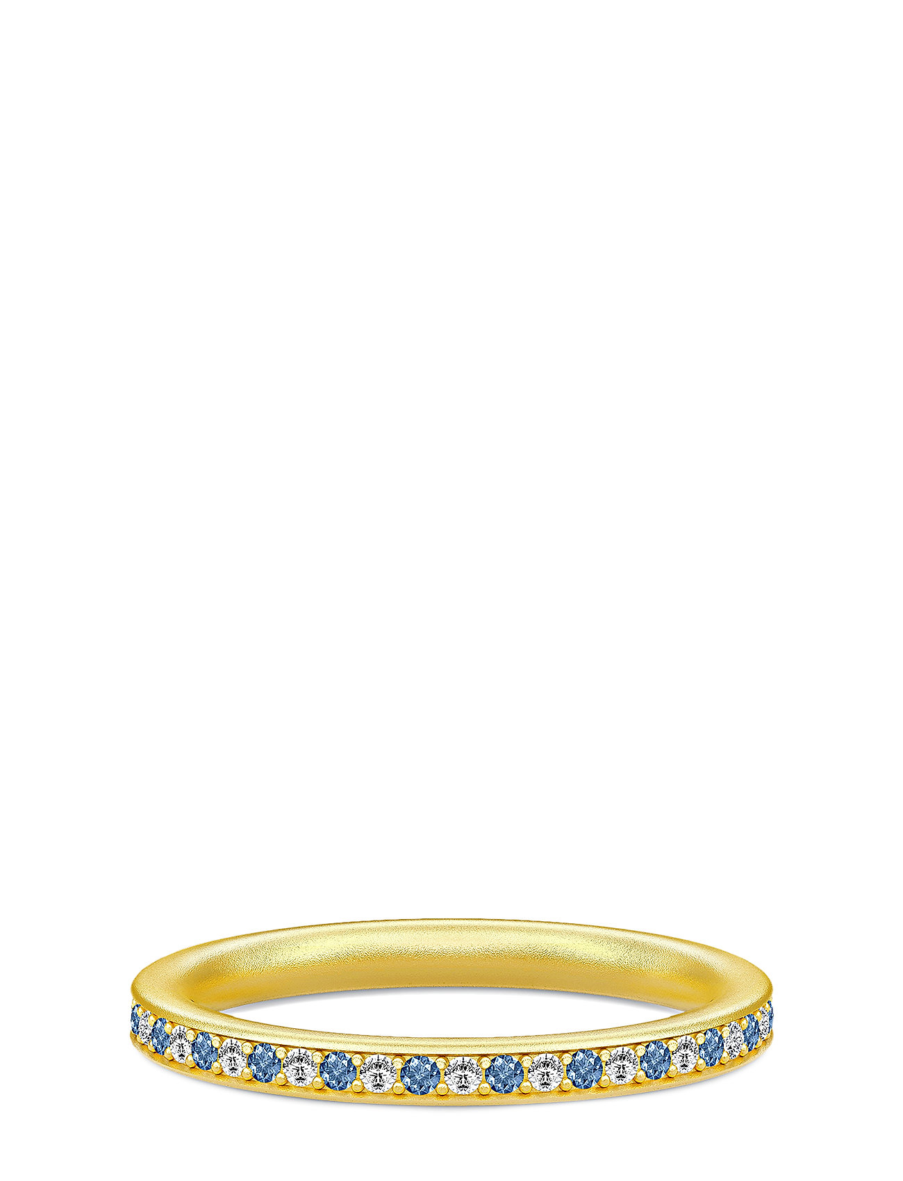 Image of Infinity Ring Gold White/Blue Ring Smykker Guld Julie Sandlau (3286392041)