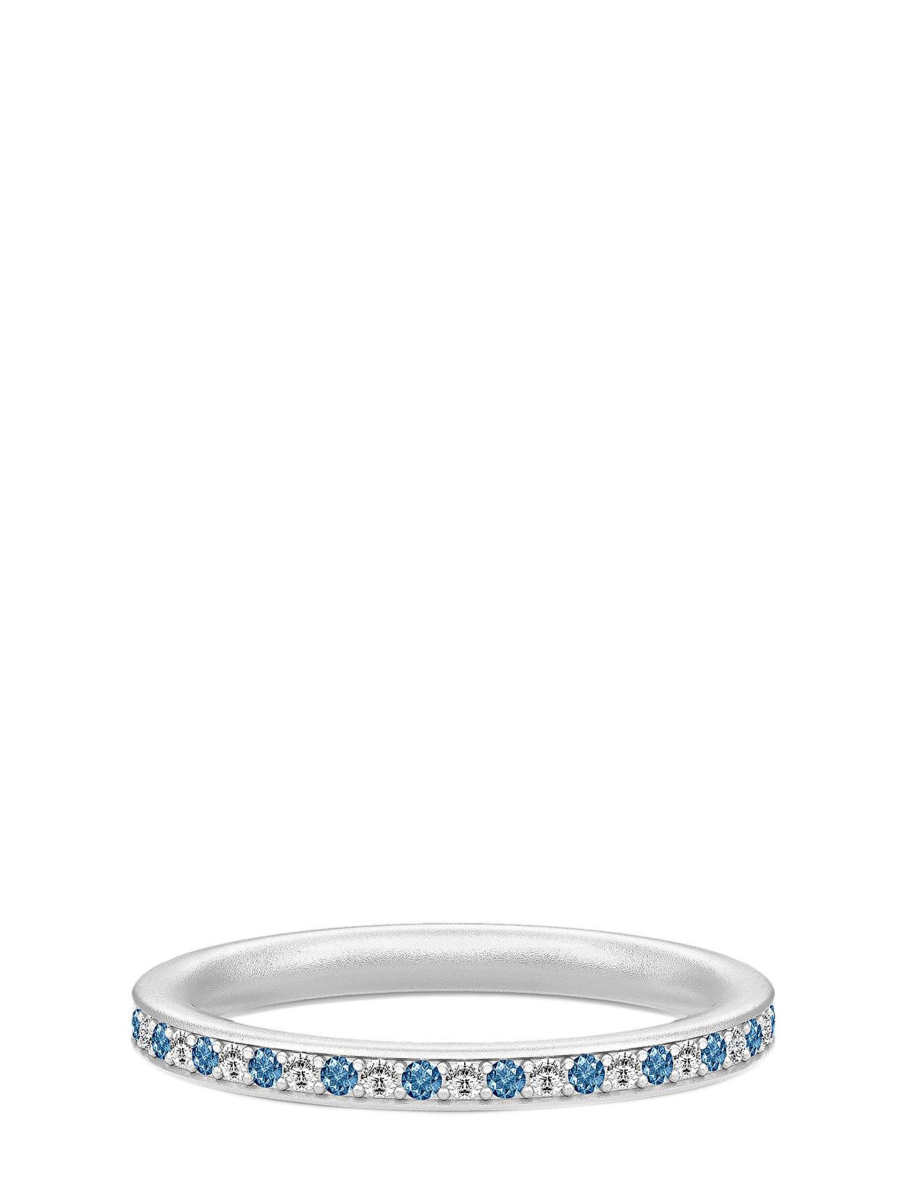 Image of Infinity Ring Rhodium White/Blue Ring Smykker Sølv Julie Sandlau (3286392045)