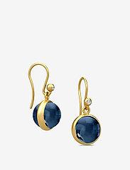 Julie Sandlau - Prime earring - Gold - hängande örhängen - dark blue - 1
