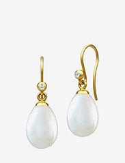 Julie Sandlau - Afrodite earring  - Gold - pearl white - 0