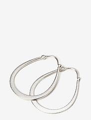Julie Sandlau - Classic pear hoop earring - Rhodium - statement earrings - silver - 0