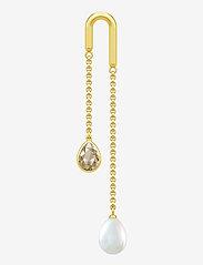 Julie Sandlau - Link Droplet Earstud - hängande örhängen - gold - 0