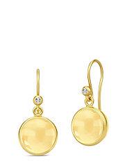 Prime Earrings - Gold/Citrine - GOLD / CITRINE