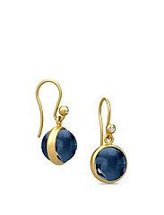 Prime earring - Gold - DARK BLUE