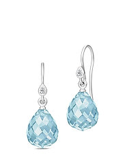 Droplet Earrings - Rhodium/Blue - BLUE