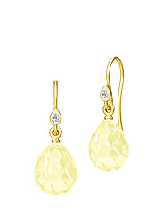 Ballerina Earrings - Gold/Lemon - YELLOW