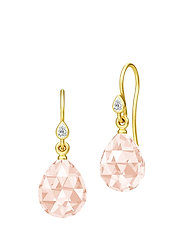 Ballerina Earrings - Gold/Morganite - RED