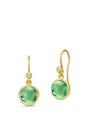 Primini Earrings - Gold/Green - GREEN