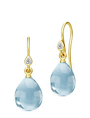 Prima Ballerina Earrings - Gold/Ocean - GOLD / OCEAN BLUE