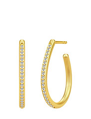 Infinity Pear Hoop Earring - Gold - GOLD