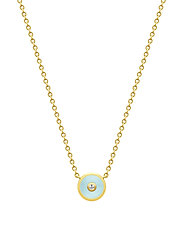 Iris Necklace - Gold/Light Blue - BLUE