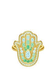Hamsa Protection Gold Ring - GOLD