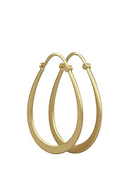 Classic pear hoop earring - Gold - GOLD