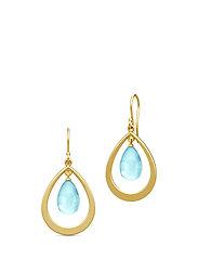 Prime Droplet Earrings - Gold/Sky Blue - BLUE