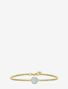 Primini Bracelet - Gold/Chalcedon - dainty - gold / chalcedon