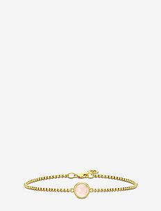 Primini Bracelet - Gold/Milky Rose - GOLD / MILKY ROSE CRYSTAL