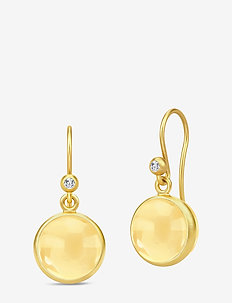 Prime Earrings - Gold/Citrine - GOLD / CITRINE