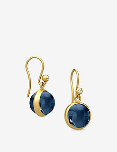 Prime earring - Gold - pendant - dark blue