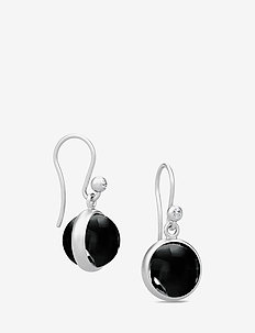 Prime Earrings - Rhodium/Black - BLACK