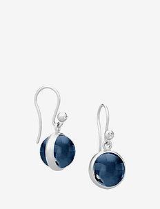 Prime earring - Silver - hengende øreringer - blue