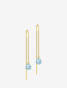 Evening Dew Earrings - Gold/Blue - BLUE