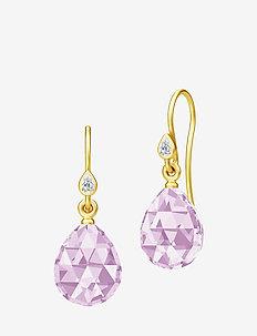 Ballerina Earrings - Gold/Lavender - PURPLE
