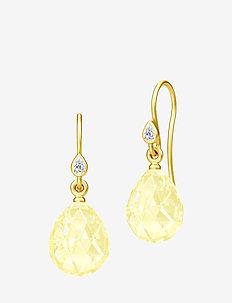 Ballerina Earrings - Gold/Lemon - YELLOW