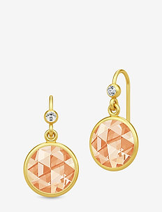 Cocktail Earrings - Gold/Champagne - pendant - gold / champagne