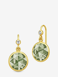 Cocktail Earrings - Gold/Dusty Green - GOLD / DUSTY GREEN